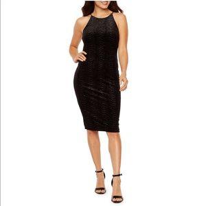 bd0004f926 Premier Amour · Sleeveless velvet glitter sheath dress.  20  74